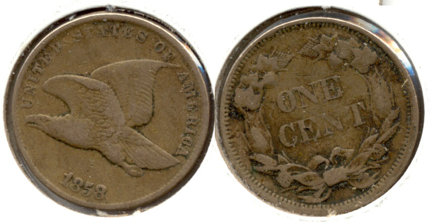 1858 Small Letters Flying Eagle Cent VF-20 e