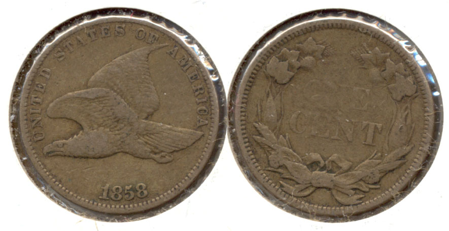 1858 Small Letters Flying Eagle Cent VF-20 f