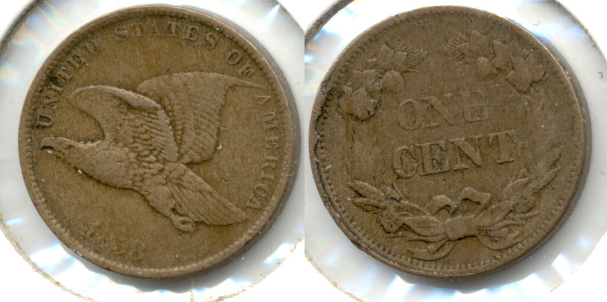 1858 Small Letters Flying Eagle Cent VF-20 g