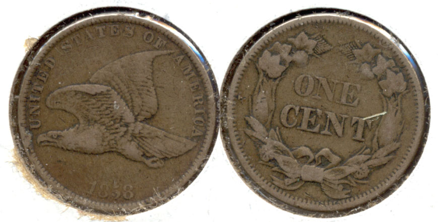 1858 Small Letters Flying Eagle Cent VF-20 h