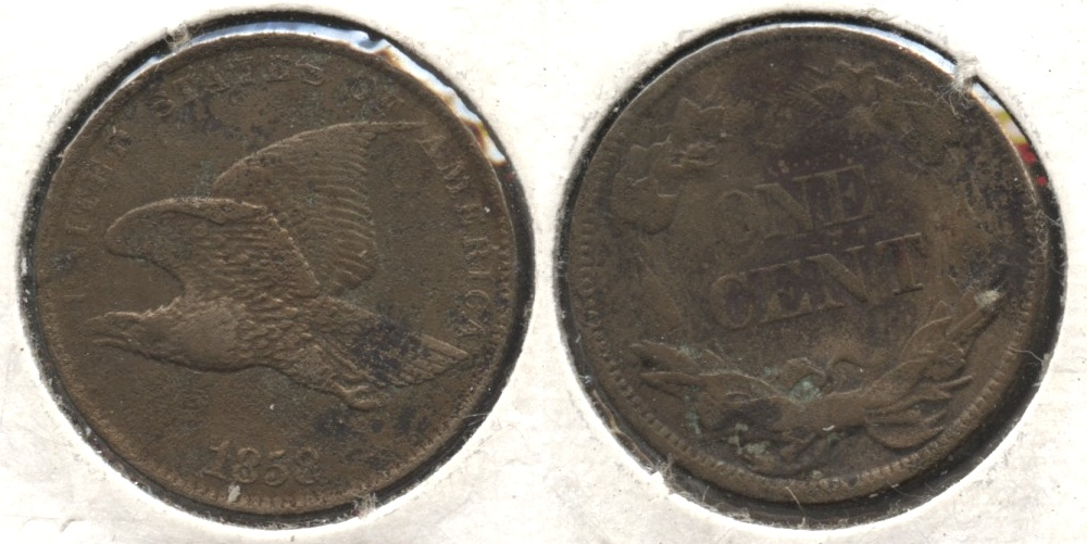 1858 Small Letters Flying Eagle Cent VF-20 #p Corrosion