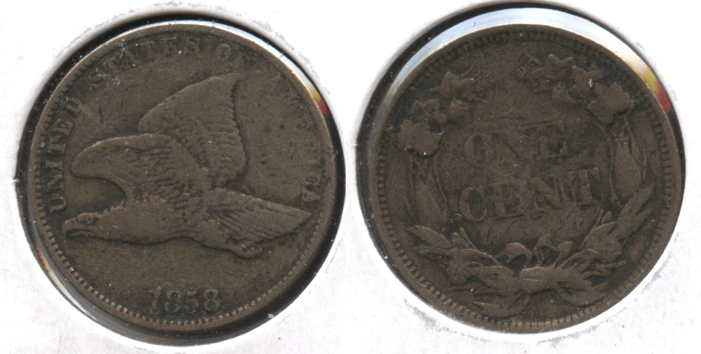 1858 Small Letters Flying Eagle Cent VF-20 #q