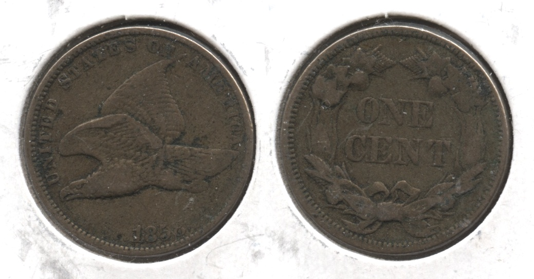 1858 Small Letters Flying Eagle Cent VF-20 #w