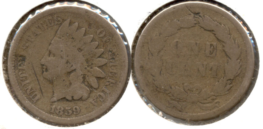 1859 Indian Head Cent AG-3 a