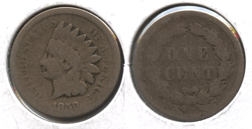 1859 Indian Head Cent AG-3 #bb