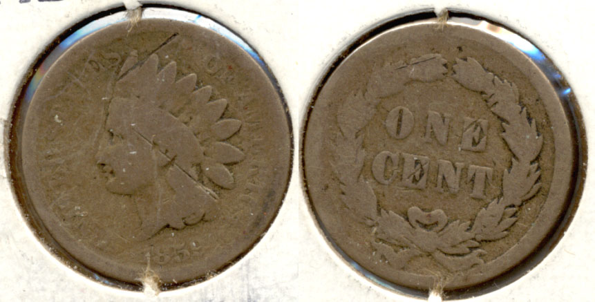 1859 Indian Head Cent AG-3 j Cuts