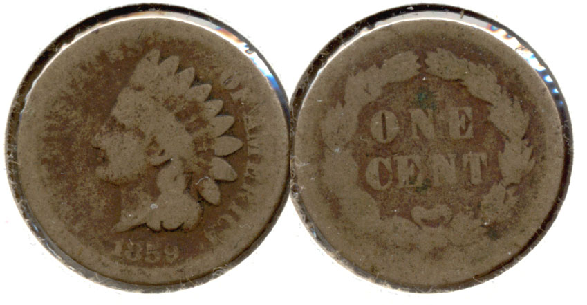 1859 Indian Head Cent AG-3 u
