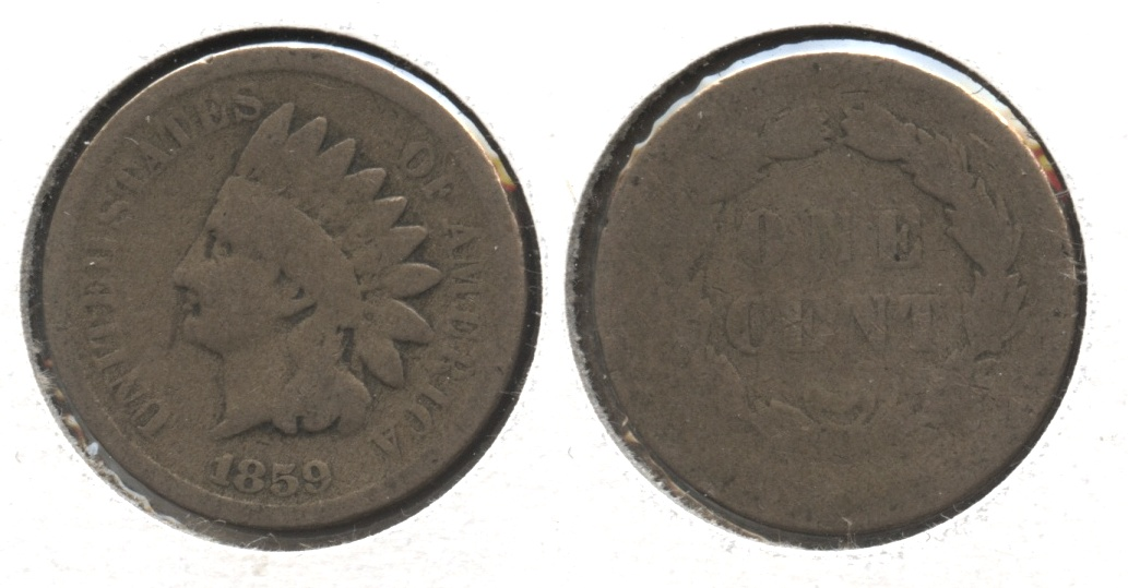 1859 Indian Head Cent Fair-2 #e