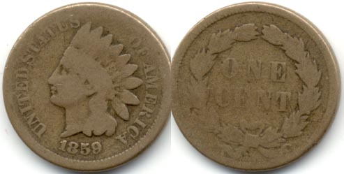 1859 Indian Head Cent Good-4