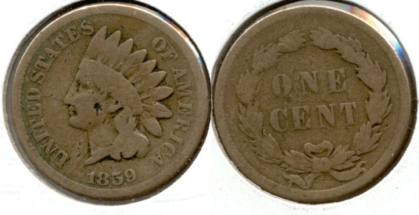 1859 Indian Head Cent Good-4 aq
