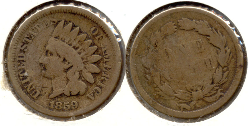 1859 Indian Head Cent Good-4 au