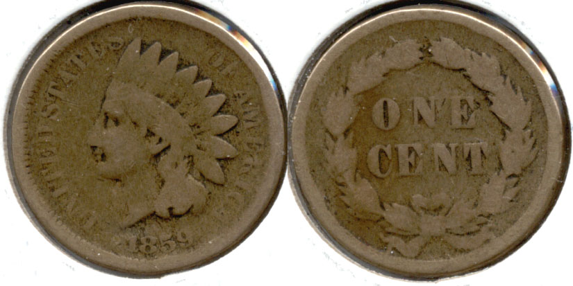 1859 Indian Head Cent Good-4 av