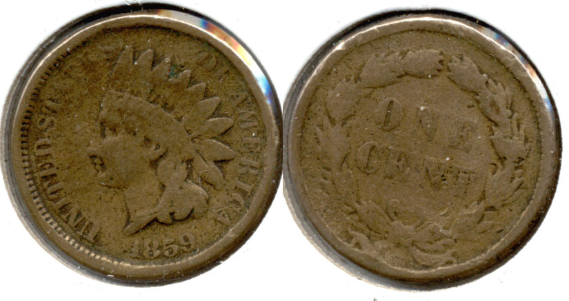 1859 Indian Head Cent Good-4 aw