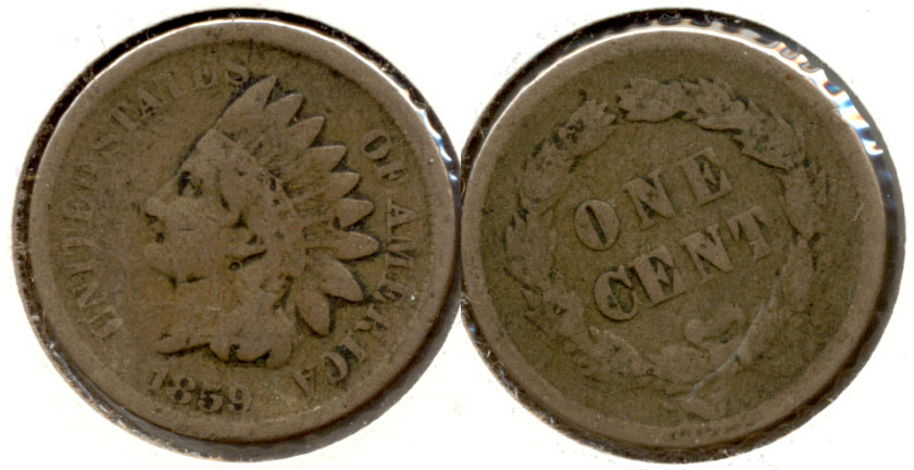 1859 Indian Head Cent Good-4 c