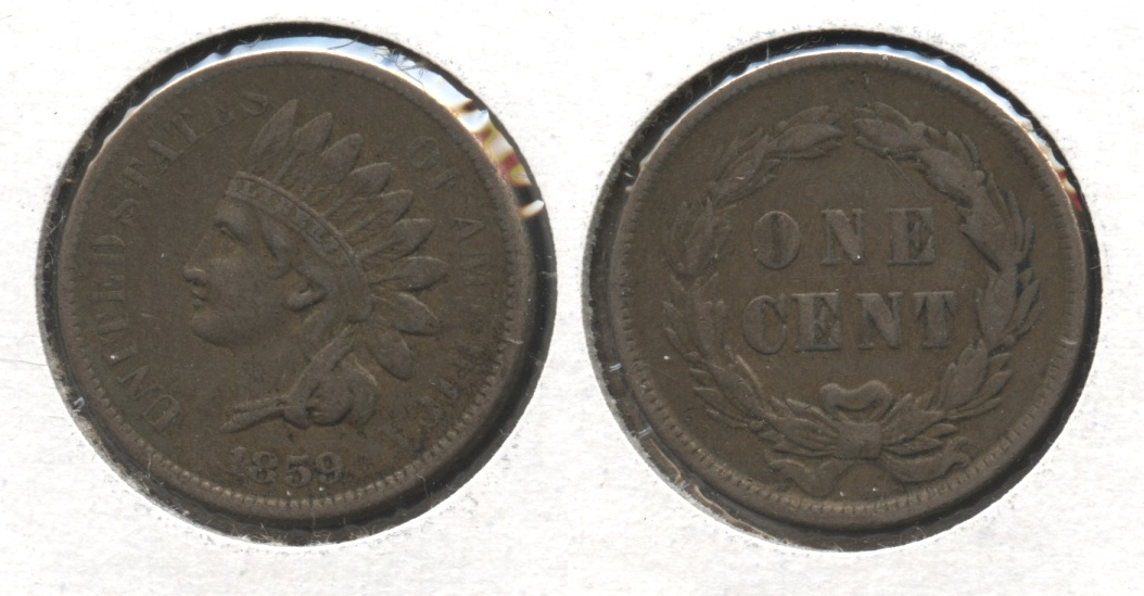 1859 Indian Head Cent VF-20 #k