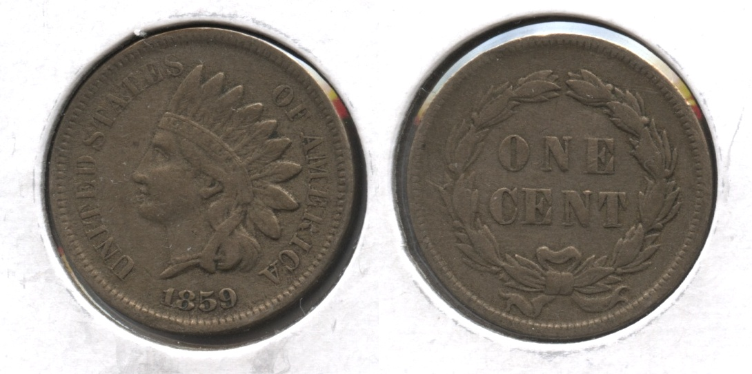 1859 Indian Head Cent VF-20 #l