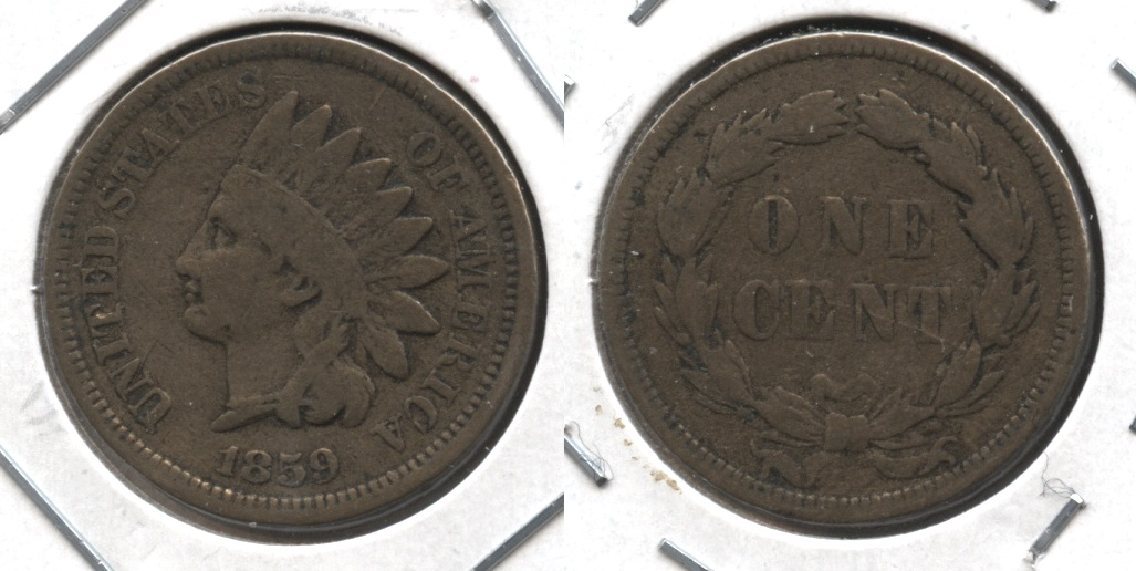 1859 Indian Head Cent VG-8 #ac