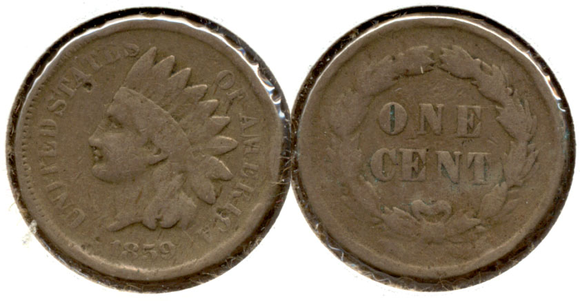1859 Indian Head Cent VG-8 p