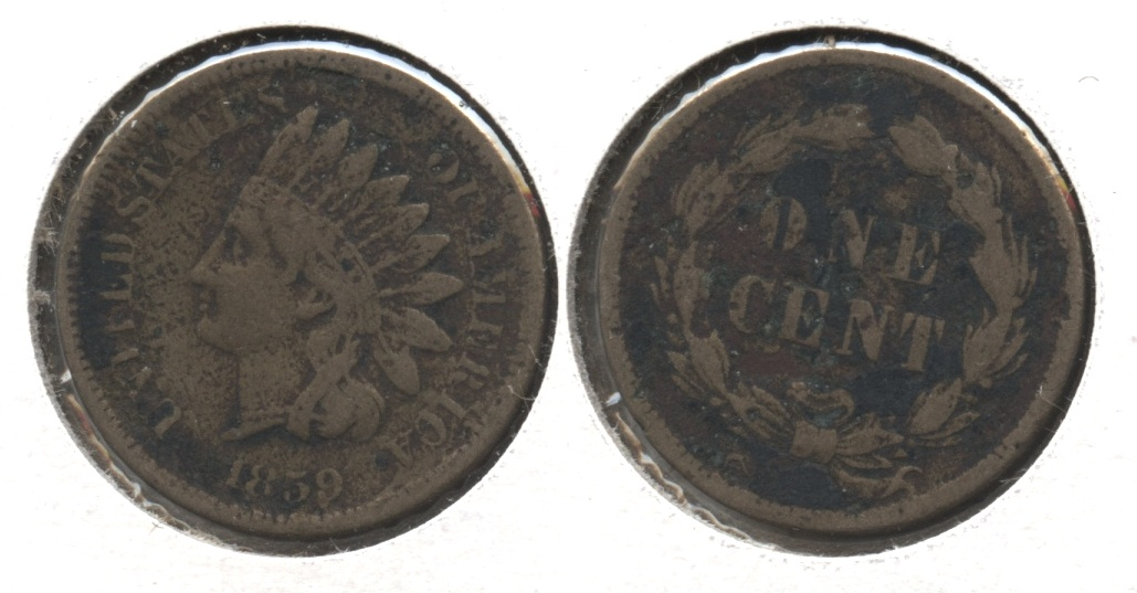 1859 Indian Head Cent VG-8 #z Dark
