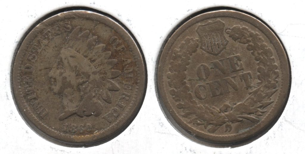 1860 Indian Head Cent AG-3 #f