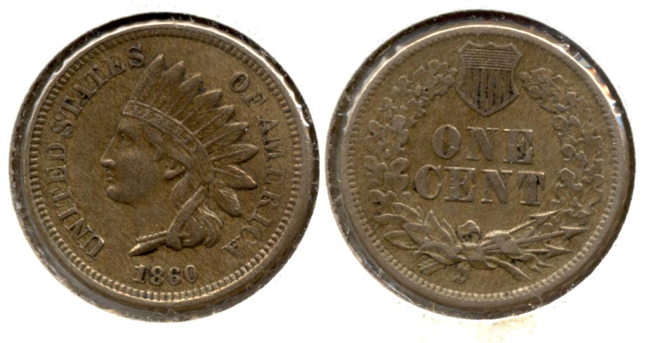 1860 Indian Head Cent EF-40 a