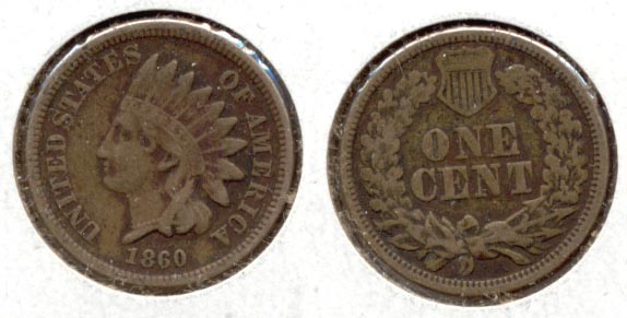 1860 Indian Head Cent Fine-12
