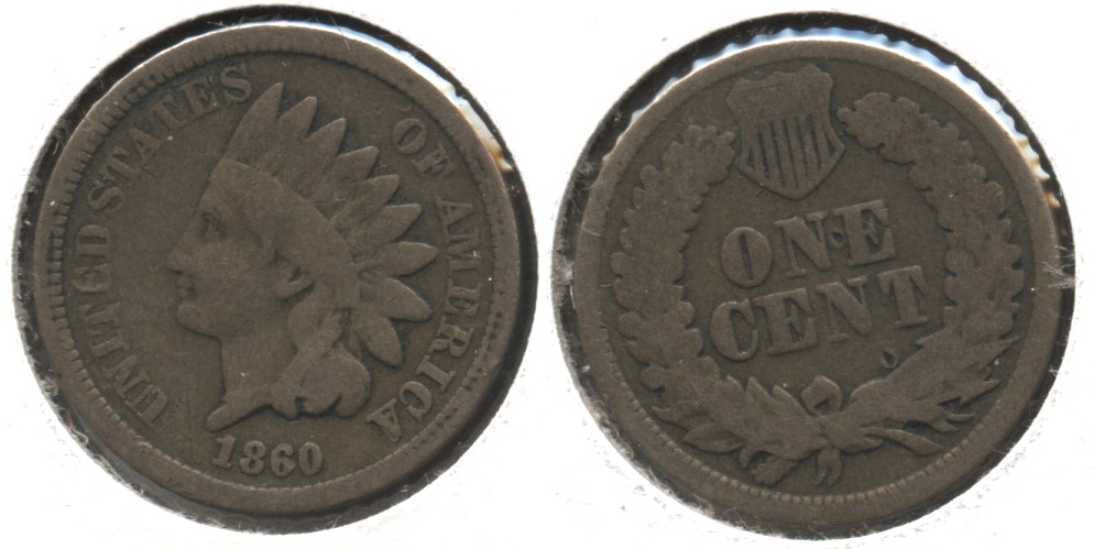 1860 Indian Head Cent Good-4 #ah