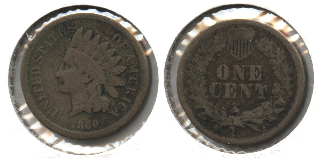 1860 Indian Head Cent Good-4 #am