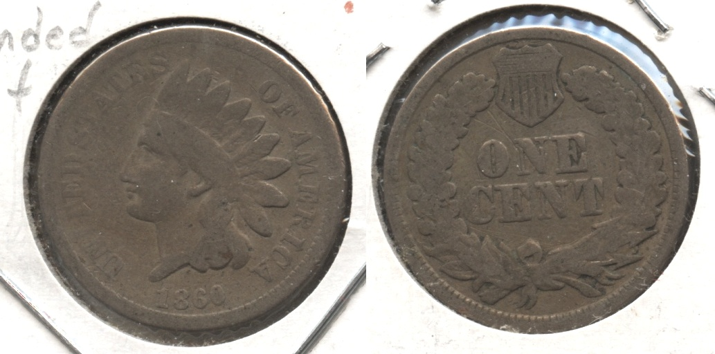1860 Indian Head Cent Good-4 #aq