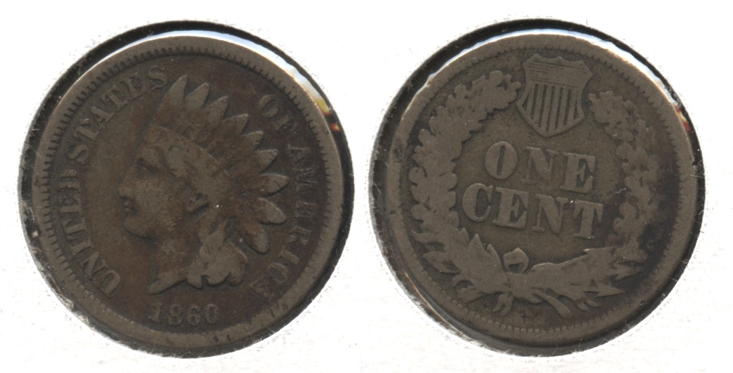 1860 Indian Head Cent Good-4 #bb
