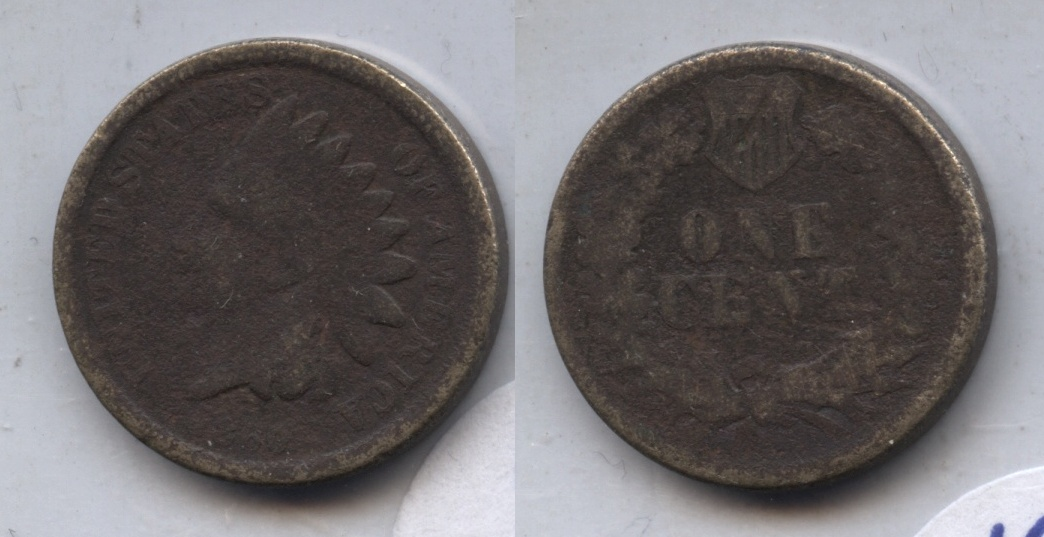1860 Indian Head Cent Good-4 #be Dark