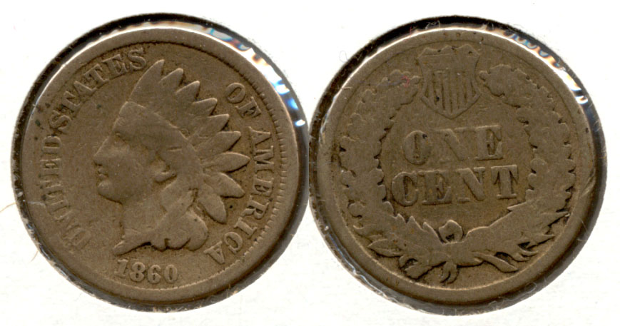 1860 Indian Head Cent Good-4 s