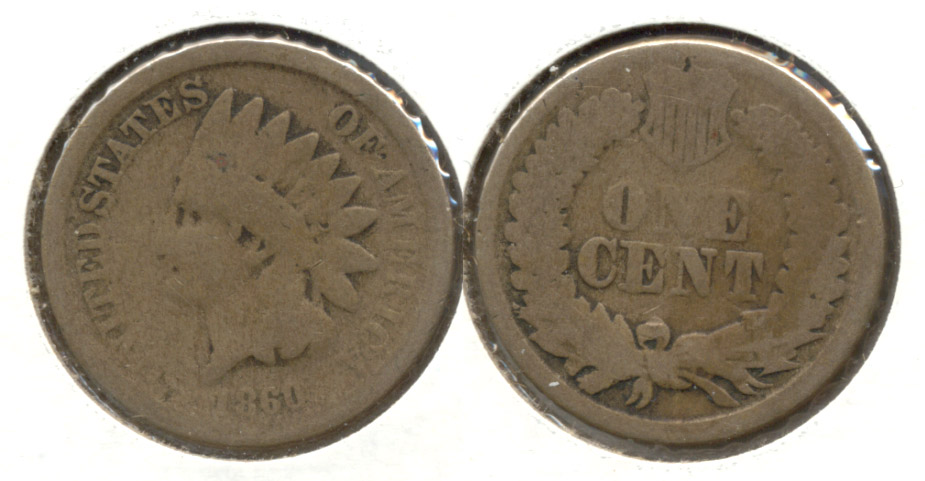 1860 Indian Head Cent Good-4 z