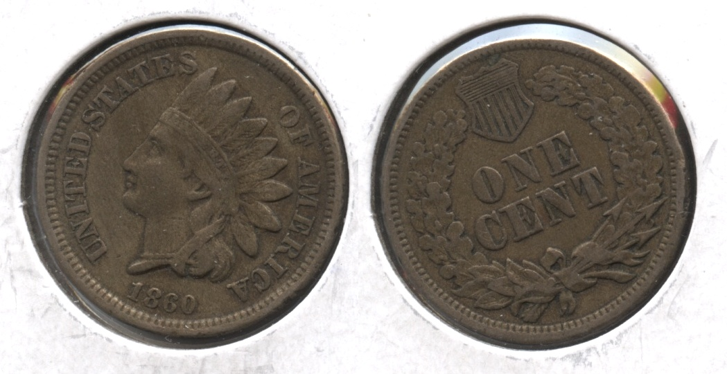 1860 Indian Head Cent VF-20 #g