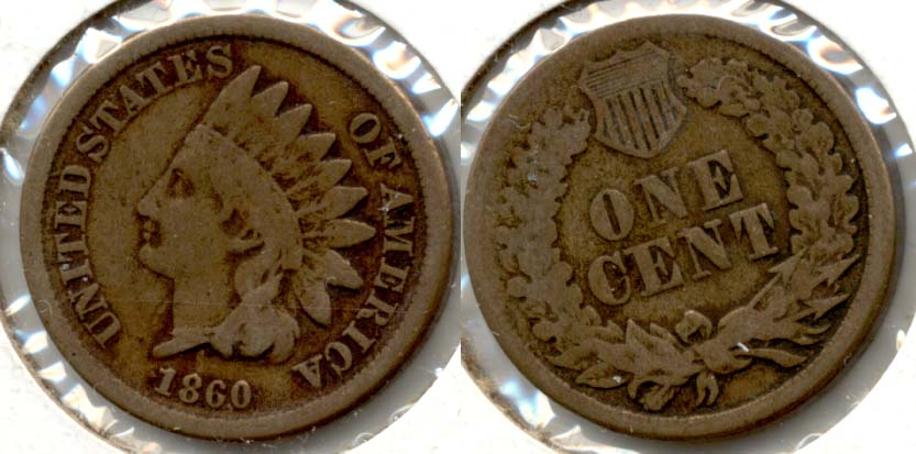 1860 Indian Head Cent VG-8 c