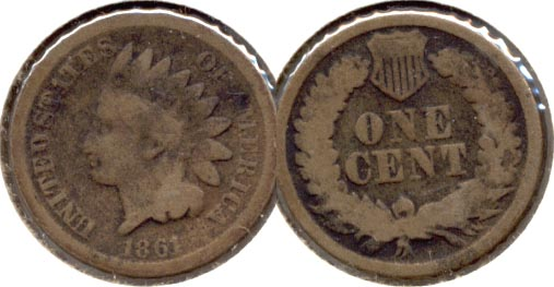 1861 Indian Head Cent Good-4