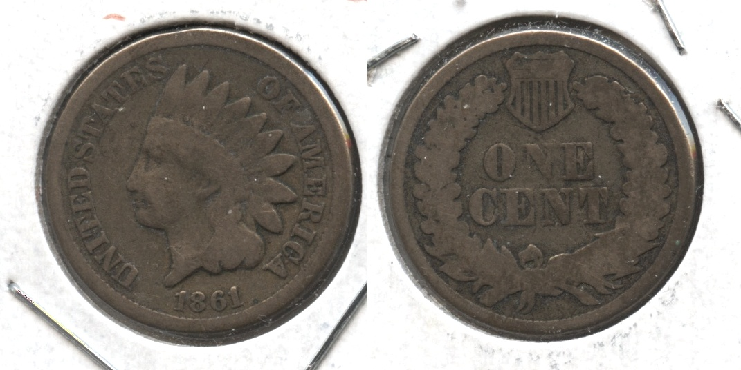 1861 Indian Head Cent Good-4 #ab