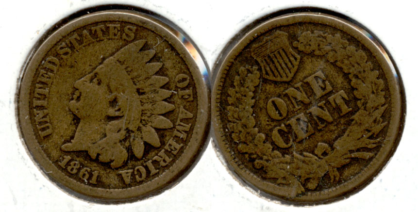 1861 Indian Head Cent Good-4 p