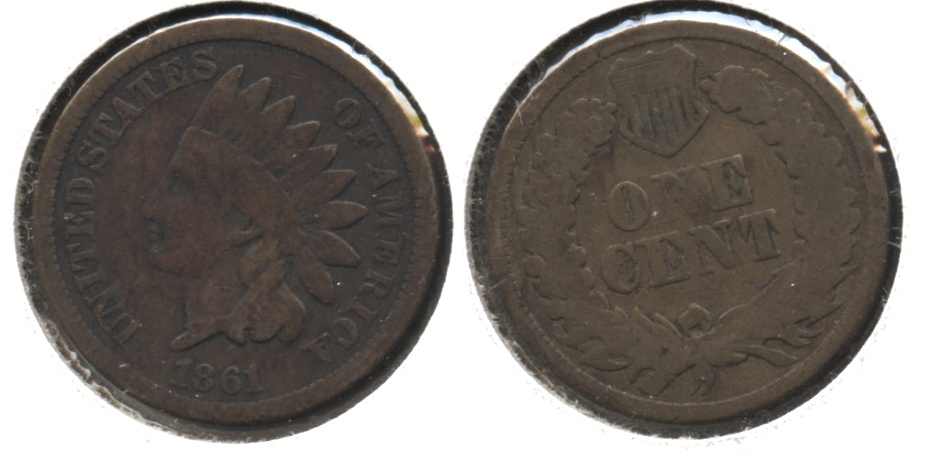 1861 Indian Head Cent Good-4 #s
