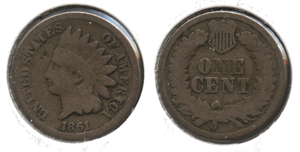 1861 Indian Head Cent Good-4 #x