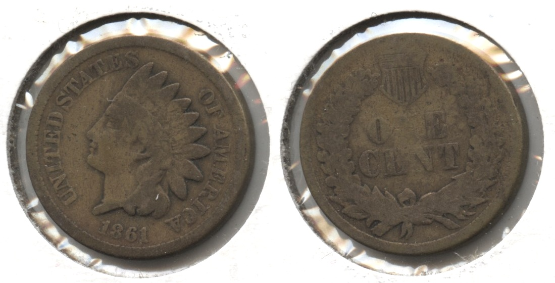 1861 Indian Head Cent Good-4 #y