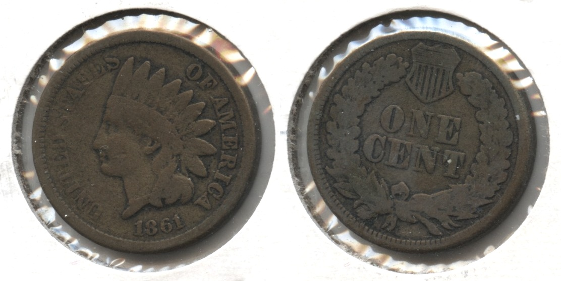 1861 Indian Head Cent Good-4 #z