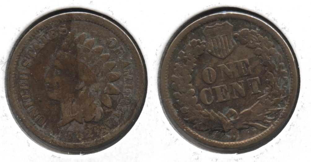 1862 Indian Head Cent AG-3 #d