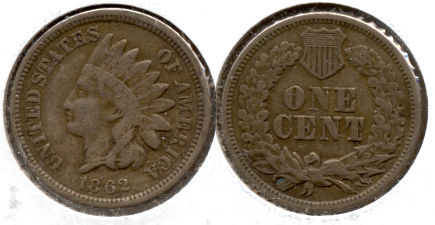 1862 Indian Head Cent Fine-12 i