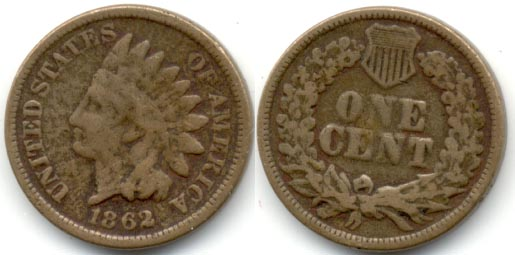 1862 Indian Head Cent G-4