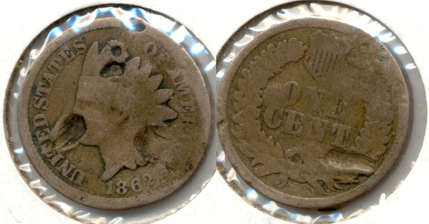 1862 Indian Head Cent G-4 ab Hits