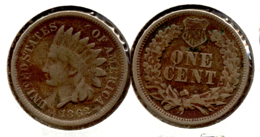 1862 Indian Head Cent G-4 an