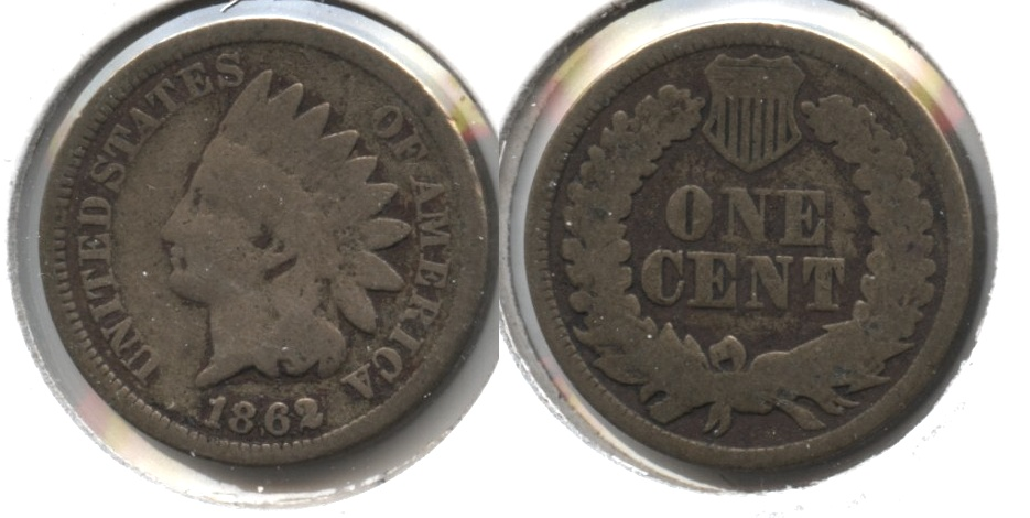 1862 Indian Head Cent G-4 aw