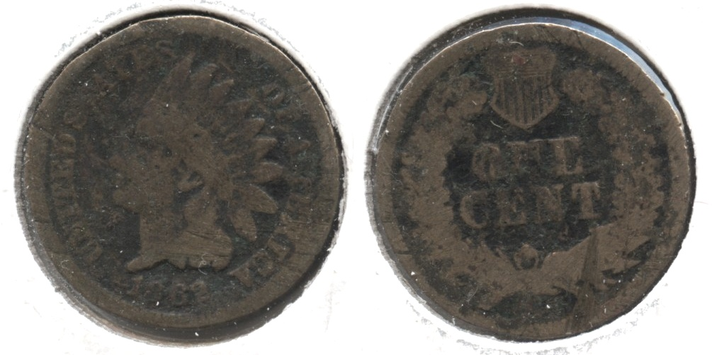 1862 Indian Head Cent G-4 #ay Rough