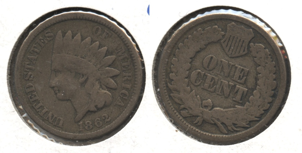 1862 Indian Head Cent G-4 #bf